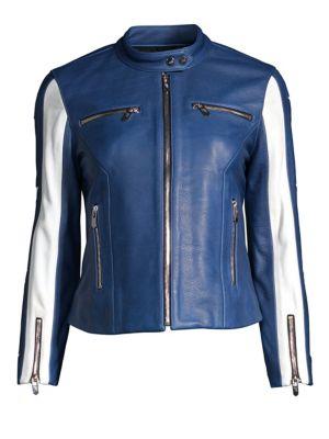 THE MIGHTY COMPANY Verno Stripe Moto Jacket