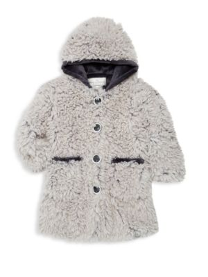 Little Girl's and Girls Faux Fur Coat