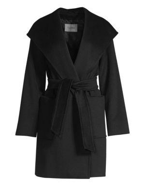 Rialto Hooded Wool Wrap Jacket