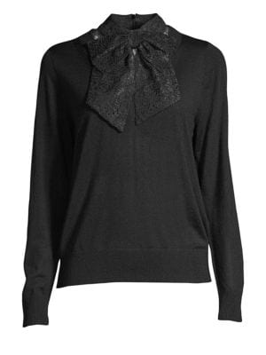 Lace Bow Sweater