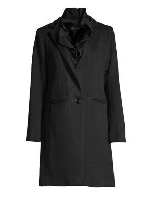 SOFIA CASHMERE Ruffle Wool & Cashmere Coat