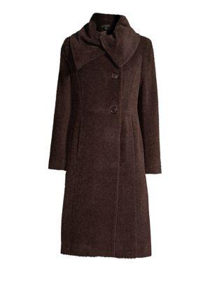SOFIA CASHMERE Envelope Collar Doubleface A-Line Coat
