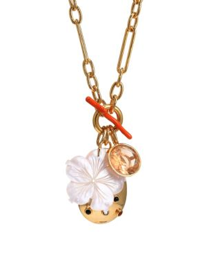Windsor 18K Goldplated & Multi-Stone Charm Necklace