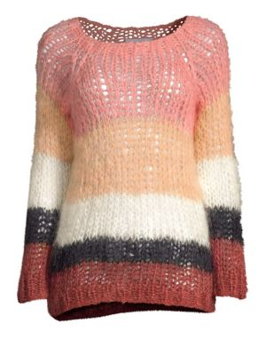 MAIAMI Mohair Blend Striped Sweater