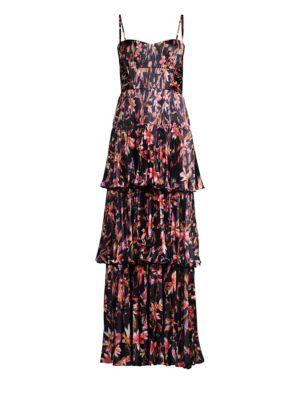 AMUR | Londyn Pleated Gown | Goxip