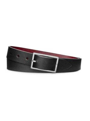 SHINOLA Rectangular Reversible Leather Belt