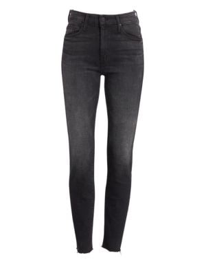 Looker High-Rise Raw Hem Ankle Jeans