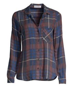 BELLA DAHL | Plaid Button Down Shirt | Goxip
