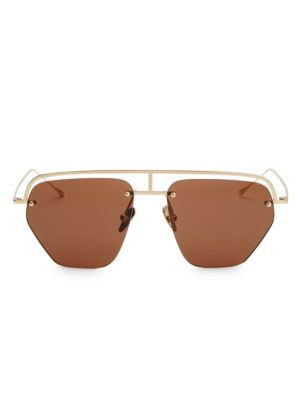 The Line-1 56MM Aviator Browline Sunglasses