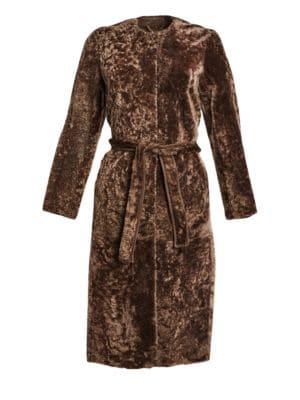 Shearling Lamb Fur Long Coat