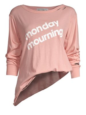 WILDFOX Monday Mourning Long Sleeve Tee