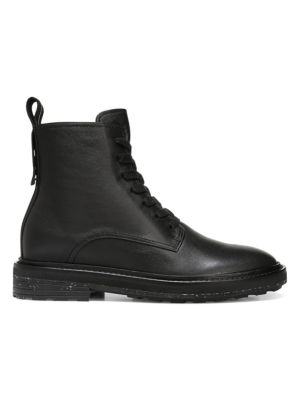 Kinley Leather Combat Boots by Via Spiga