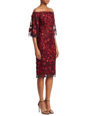 Tulle Off-The-Shoulder Dress