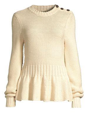 REBECCA TAYLOR Peplum Sweater