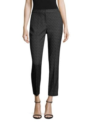 Alexandra Geometric-Print Trousers