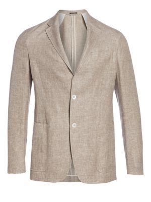 Washed Linen, Silk & Wool Jacket