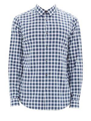Irving Light Flannel Button-Down Shirt
