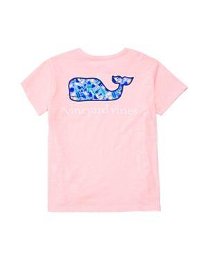 Little Girl's & Girl's Short Sleeve Whale T-Shirt