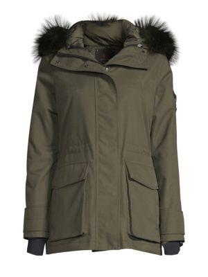 49WINTERS | Mid Parka Fox Fur Trim Jacket | Goxip
