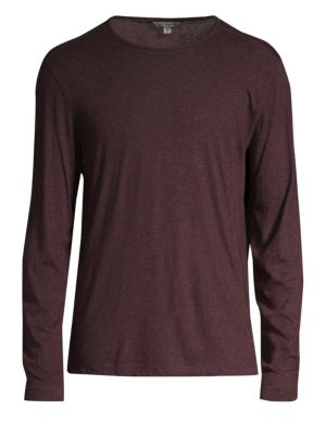 Stretch Melange Long-Sleeve T-Shirt