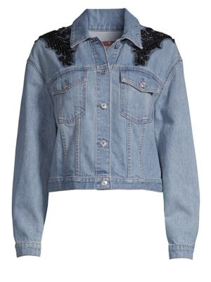 Embellished Boyfriend Denim Jacket
