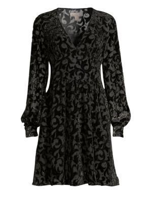 Embellished Burnout Dress