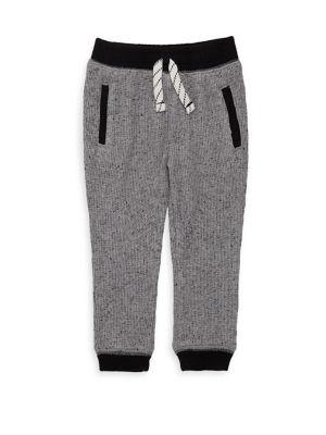 Baby Boy's Waffle Knit Jogger Pants