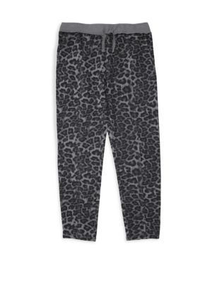 Girl's Leopard Joggers