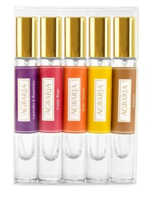 AGRARIA Woody & Herbal Petite Essence™ Five-Piece Spray Collection