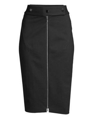 Genisis Zip-Front Pencil Skirt