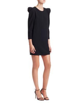 A.L.C Fiona Crepe Long Sleeve Mini Dress