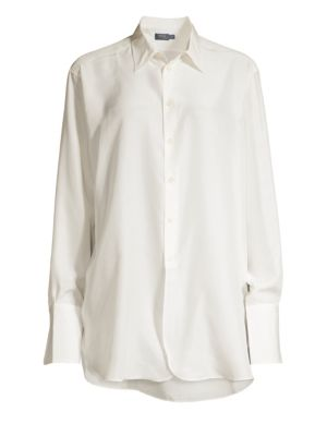 POLO RALPH LAUREN | Long Sleeve Silk Shirt | Goxip