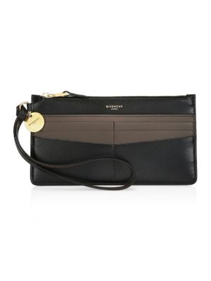GV3 Bicolor Leather Wristlet