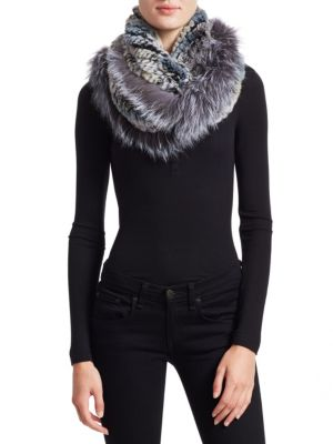 Knitted Rabbit & Fox Infinity Scarf
