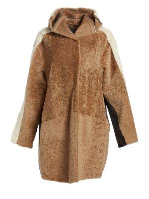 Oversized Shearling & Mink Fur Coat