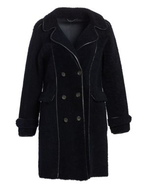 Shearling Double-Breasted Coat