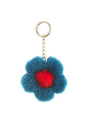 Mink Flower Keychain