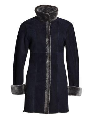 Reversible Shearling & Suede Jacket