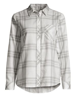 Ice Plaid Performance Button-Down Shirt
