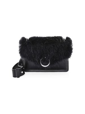 Jean Faux Fur & Leather Crossbody