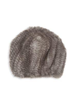 Knit Mink Fur Hat