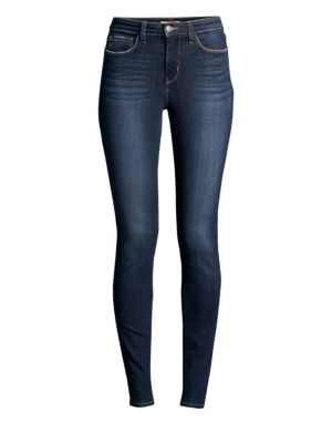Marguerite Mid-Rise Skinny Distressed Jeans