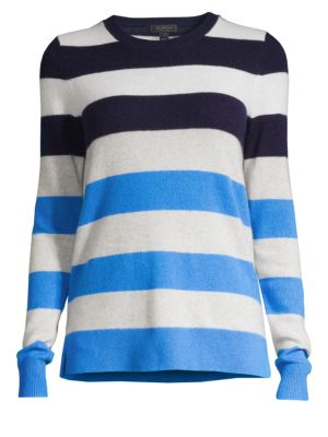 SAKS FIFTH AVENUE | COLLECTION Multi-Stripe Cashmere Sweater | Goxip