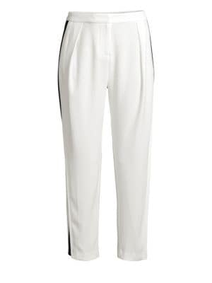 Carey Silk Ankle Pants