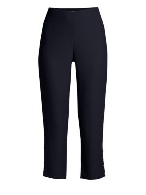 DRAPER JAMES | Button Hem Ankle Pants | Goxip