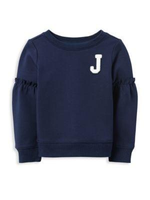 JANIE AND JACK | Girl's Ruffle Sweatshirt | Goxip