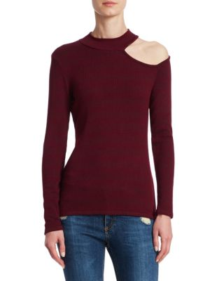 Cut-out Mockneck Sweater