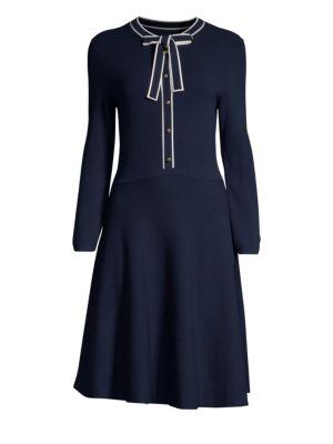 DRAPER JAMES | Sailor Bow Sweater Dress | Goxip