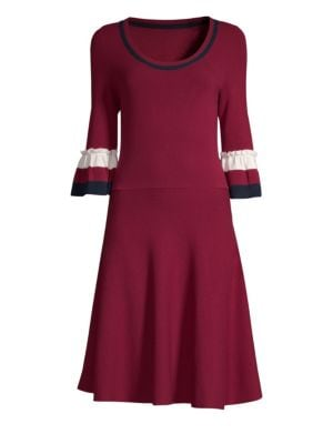 DRAPER JAMES | Bell Sleeve Sweater Dress | Goxip