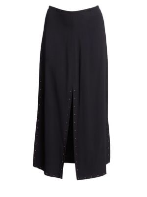 SEE BY CHLOE | Double Slit Crepe Midi Skirt | Goxip